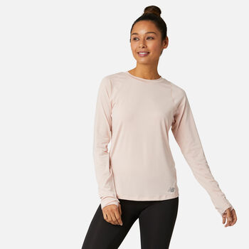New Balance Seasonless Laufshirt langarm Damen Weiss