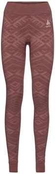 Odlo NATURAL + KINSHIP WARM Funktionsunterhose lang Damen Rot