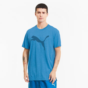 Puma Heather Cat Trainingsshirt Herren Blau