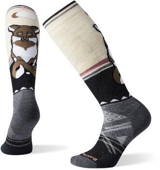 Smartwool PhD Ski Medium Fox Pattern Socken Damen Grau