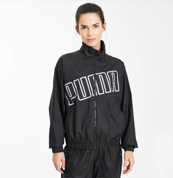 Puma Feel It Windbreaker Trainingsjacke Damen Schwarz