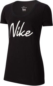 Nike Dri-FIT Trainingsshirt Damen Schwarz