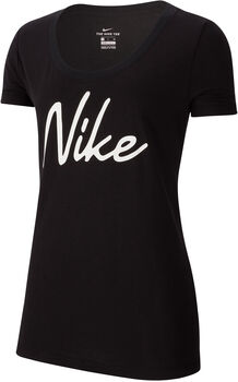 Nike Dri-FIT Trainingsshirt Damen Schwarz
