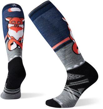 Smartwool PhD Ski Medium Fox Pattern Socken Damen Rot