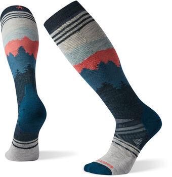 Smartwool Phd Ski Medium Alpenglow Pattern Socken Weiss