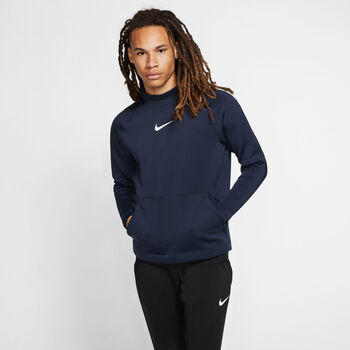 Nike PRO Fleece Hoody Herren Blau