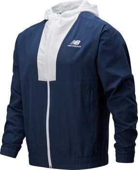 New Balance Athletics Full Zip Windbreaker Hommes Bleu