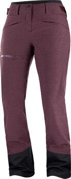 Salomon PROOF LT INSULATED pantalon de ski Femmes Rouge