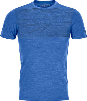 ORTOVOX 120 COOL TEC WOOD T-Shirt Herren Blau