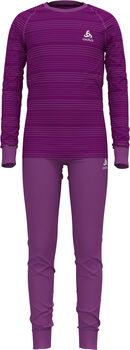 Odlo ACTIVE WARM ECO ensemble de sous-vêtements fonctionnels  Violet