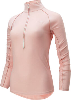 New Balance Transform 1/2 Zip Trainingsshirt langarm  Damen Pink