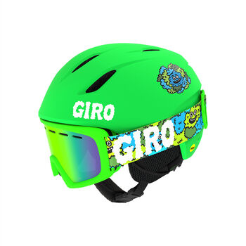 Giro Launch Combo Skihelm + Brillen Set Grün
