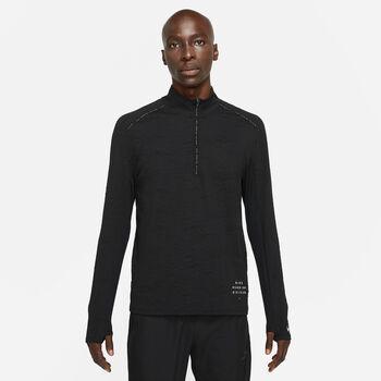 Nike Dri-FIT Element haut de running à manches longues Hommes Noir