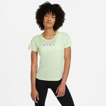 Nike Swoosh haut de running Femmes Jaune