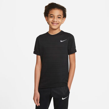 Nike Dri-FIT Miler T-Shirt Schwarz