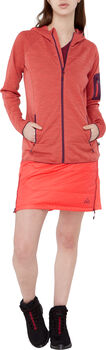 McKINLEY Manali Hooded Fleecejacke Damen Rot