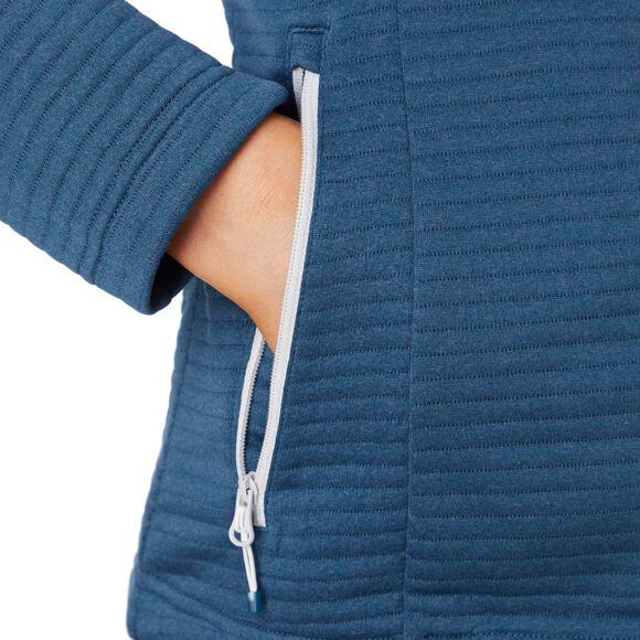 Aami blouson en laine polaire à capuche