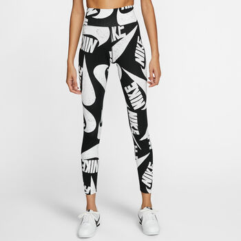 Nike Sportswear Printed Tights Damen Schwarz