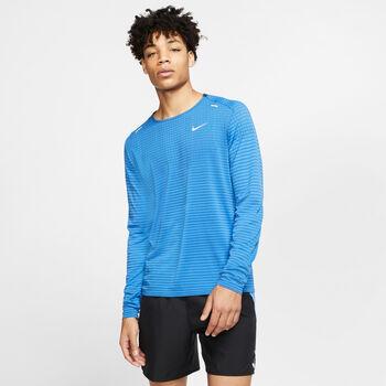 Nike TechKnit Ultra Laufshirt langarm Herren Blau
