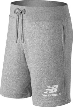 New Balance Essentials Stacked Logo Shorts Hommes Gris