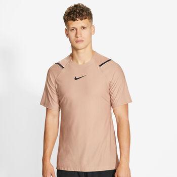 Nike Pro Trainingsshirt Herren Braun