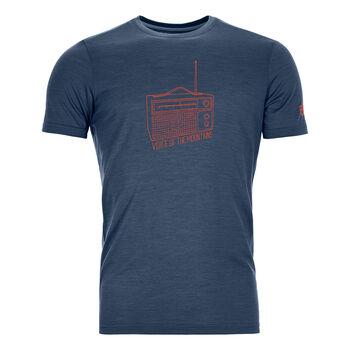 ORTOVOX 150 COOL RADIO T-Shirt Hommes Bleu