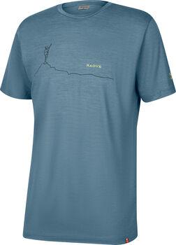 Radys R9 light merino T-Shirt Herren Blau