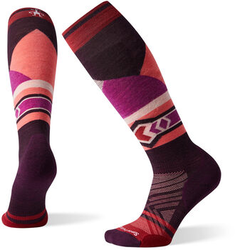 Smartwool PhD Ski Light Elite Patter Chaussettes Femmes Rouge