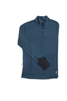 On Weather T-Zip Laufshirt langarm Herren Blau
