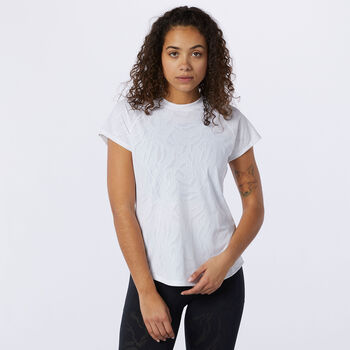 New Balance Q Speed T-Shirt Damen Weiss