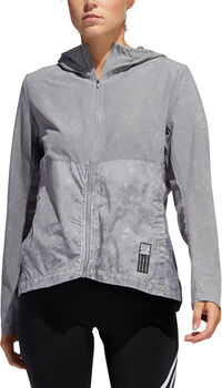 ADIDAS Own the Run JKT Laufjacke langarm Damen Grau