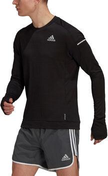 adidas Cooler haut de running à manches longues Hommes Noir