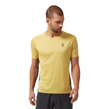 On Performance Shirt running à manches courtes Hommes Jaune