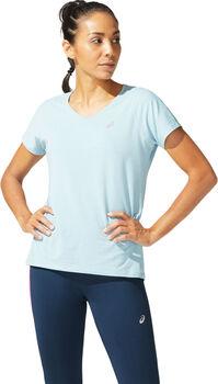 ASICS V-NECK Shirt de running à manches courtes Femmes Bleu