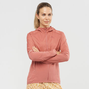 Salomon AGILE FZ Laufjacke Damen Orange