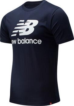 New Balance Essentials Stacked Logo T-Shirt Herren Blau