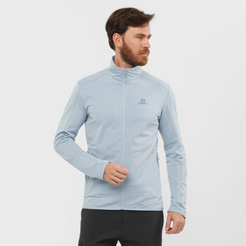 Salomon Outrack Full Zip sweat-shirt Hommes Bleu