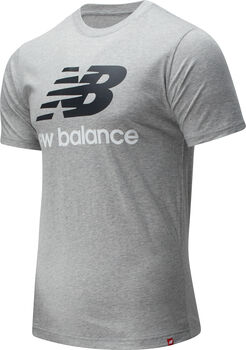 New Balance Essentials Stacked Logo T-Shirt Herren Grau