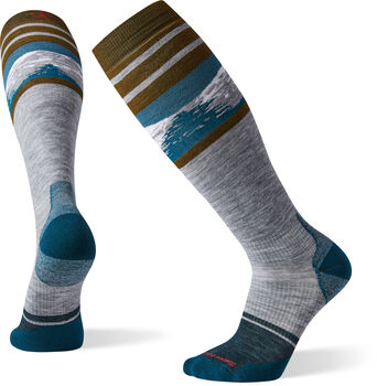 Smartwool PhD Snow Light Elite Pattern Socken Grau