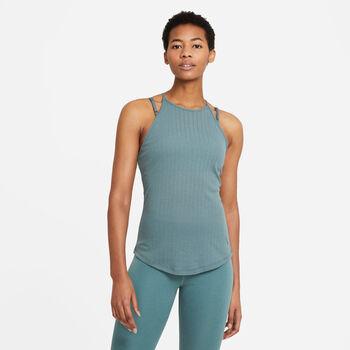 Nike Yoga Pointelle tanktop Femmes Vert