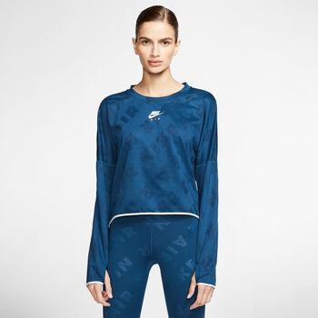 Nike AIR Shirt running à manches longues Femmes Bleu