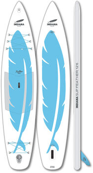 Indiana 12'6 Feather Inflatable Stand Up Paddle Weiss