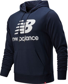 New Balance Essentials Stacked Logo Hoody Hommes Bleu