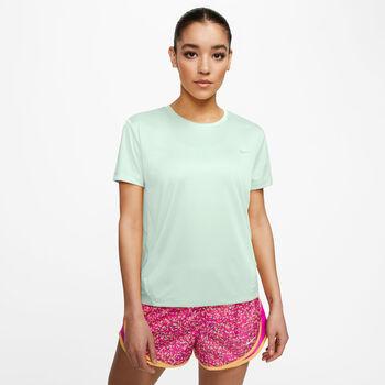 Nike Miler Top haut de running à manches courtes Femmes Vert