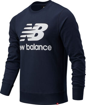 New Balance Essentials Stacked Logo Crew Pullover Hommes Bleu